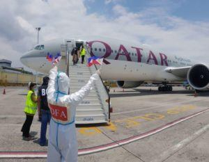 Qatar Airways Plane Bringing In Seafarers