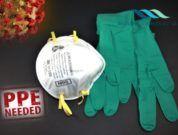 PPE coronavirus covid-19 masks and gloves