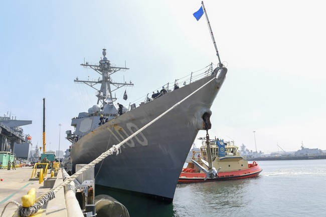 guided-missile-destroyer-USS-Kidd-arrives-in-San-Diego,-April-28,-2020,-as-part-of-the-Navy's-aggressive-response-to-the-COVID-19-outbreak