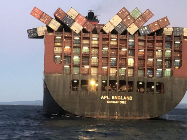 APL England containers lost