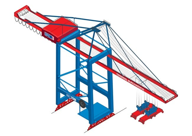Containerbruecke-HHLA_Two-additional-container-gantry-cranes-arrive-at-CTB