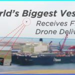 Drone-Delivery-for-the-first-time-on-world & # 039; le plus grand navire