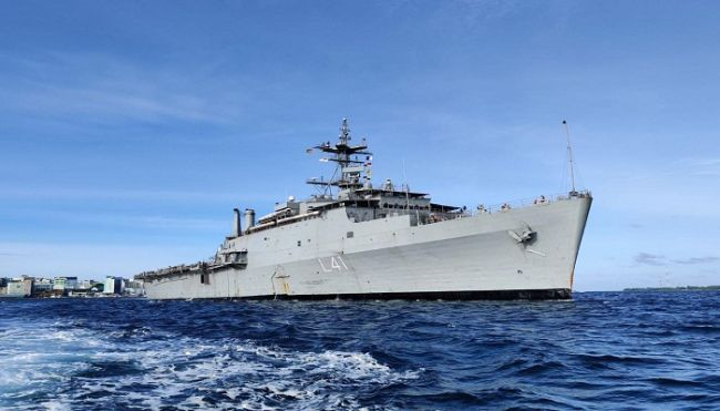 INS Jalashwa Departs Male with Indian Nationals Embarked_3