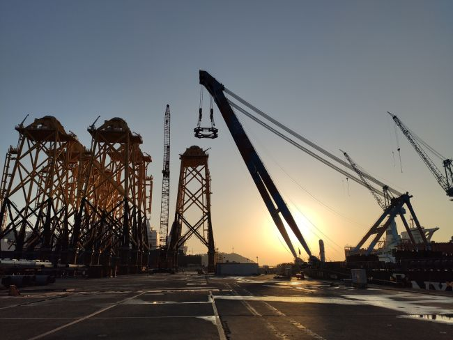 Jan De Nul Loads First Jackets For TPCs Offshore Wind Farm In Taiwan
