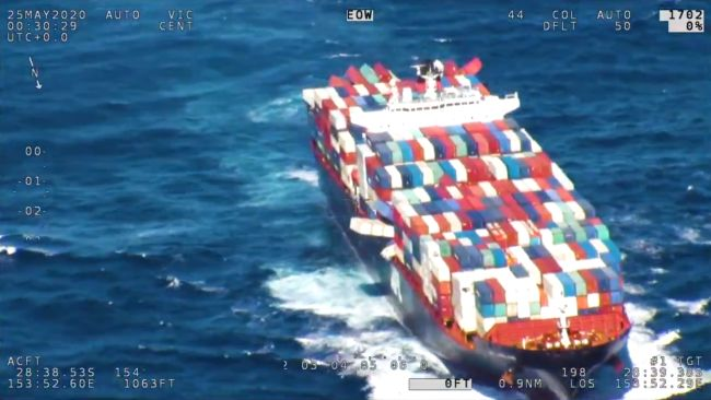 Video 43 Containers Lost, 74 Damaged On Container Ship 'APL England' Due To Rough Weather