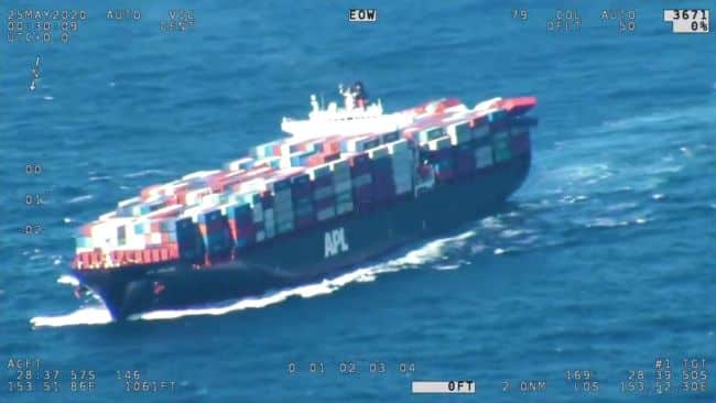 Video 43 Containers Lost, 74 Damaged On Container Ship 'APL England' Due To Rough Weather_4