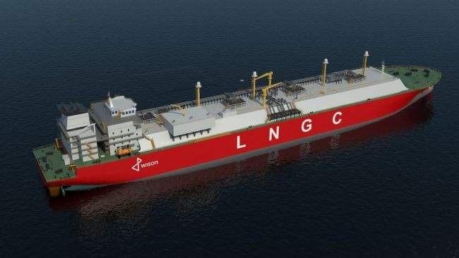 Wison 200K LNG Carrier Granted AiP by DNV GL_