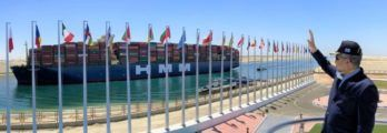 "World's Largest Container Vessel ""HMM Algeciras"" Transits Suez Canal__"