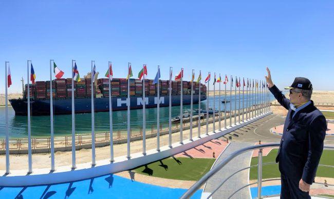 """World's Largest Container Vessel """"HMM Algeciras"""" Transits Suez Canal__"""
