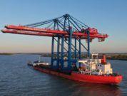 Lieferung neuer Containerbrücken zum Burchardkai