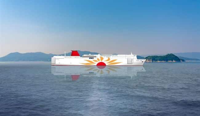 new MOL ferries will operate with the Wärtsilä 31DF engine running on LNG fuel