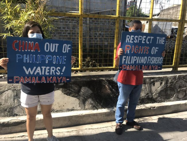 14 filipino seafarers missing_philippines coastguard_protestors china go out