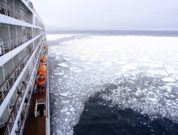 Cruise Ship Representation Ice Waters