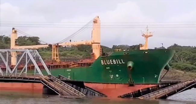 Gamboa bridge ship collision Panama Canal