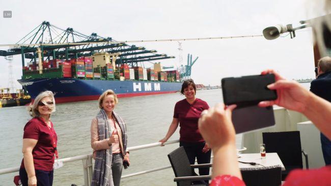 HMM Algeciras at port of antwerp