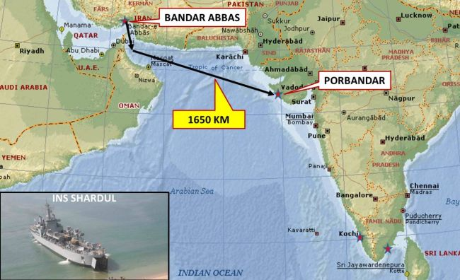 INS Shardul Iran Evacuation