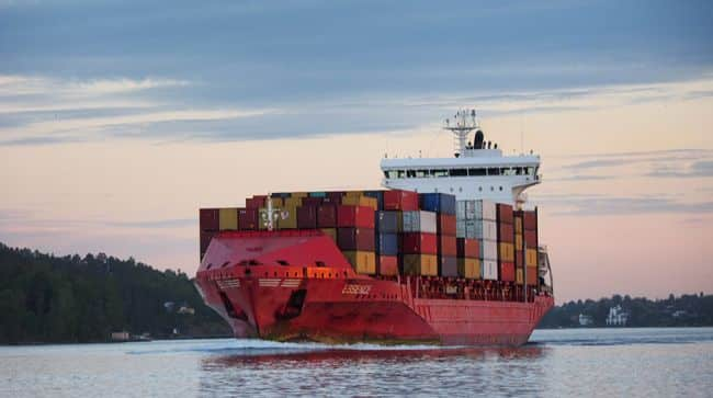 Last Containership in Frihamnen