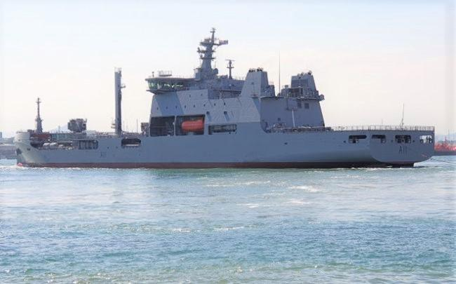New-Zealand Navy Polar-Class Logistics Support Vessel Signed Off At Hyundai Heavy