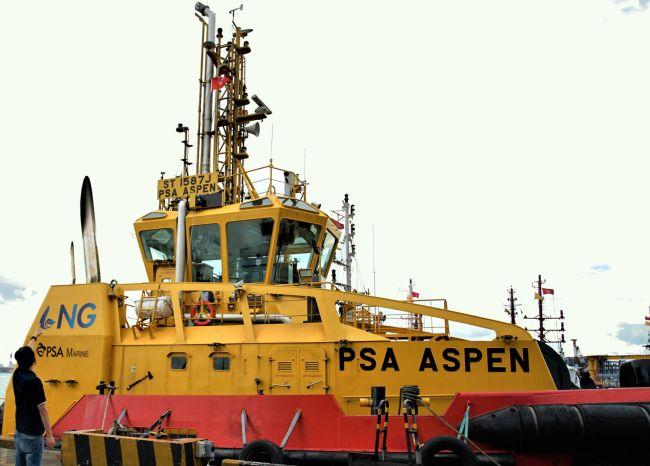 PSA Aspen - PSA Marine's First LNG Dual Fuel Harbour Tug