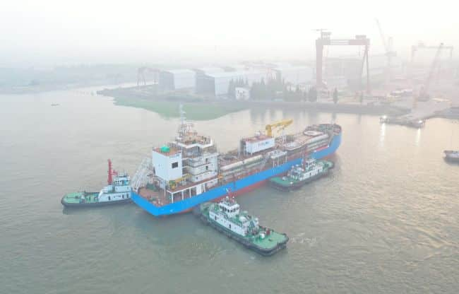 FueLNG, a joint venture between Keppel Offshore & Marine Ltd (Keppel O&M) and Shell Eastern Petroleum (Pte) Ltd, is pleased to announce the launch of Singapore's first LNG bunkering vessel in Keppel Nantong Shipyard in China