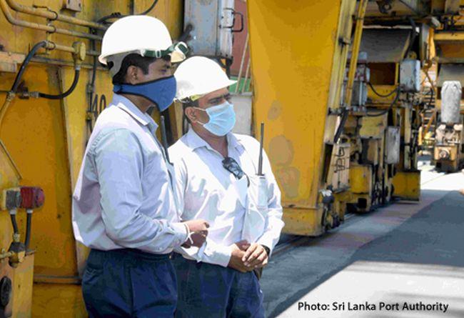 Sri Lanka Port Authority Mask COVID Coronavirus