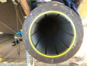 Thordon's RiverTough bearings installed in the strut of the workboat