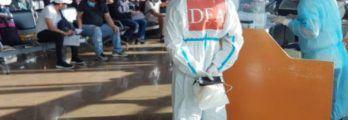 DFA welcomed 262 Filipino seafarers from Barbados via Qatar Air flight