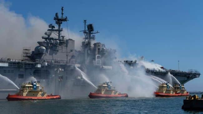Explosion Triggered Aboard Assault Ship USS Bonhomme Richard, 21 Injured_4_.S. Navy photo by Mass Communication Specialist 3rd Class Christina Ross