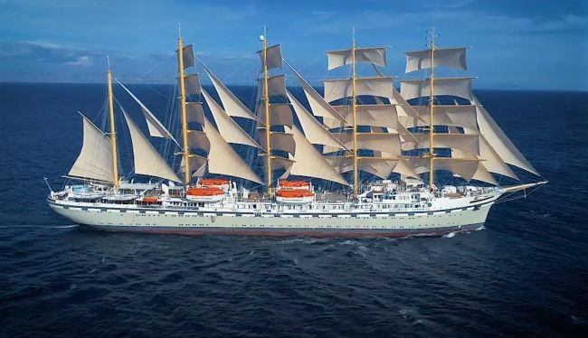 Her Majesty Flying Clipper _ largest sailing ship