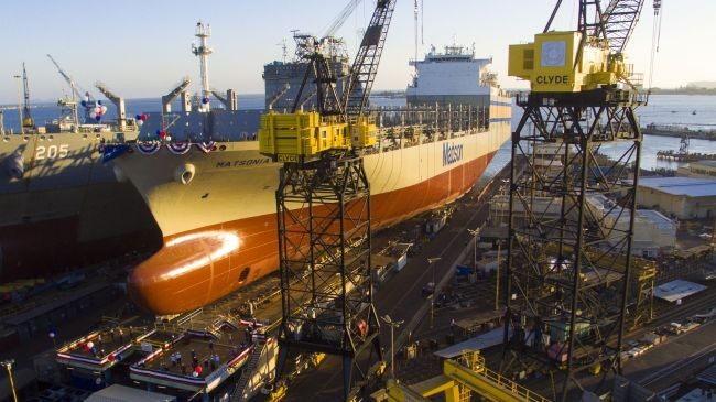Matson's newest ship was christened 'Matsonia' and launched into San Diego Bay at the NASSCO shipyard on July 2, 2020. It is the fifth ship to carry the iconic name in Matson's 138-year history.