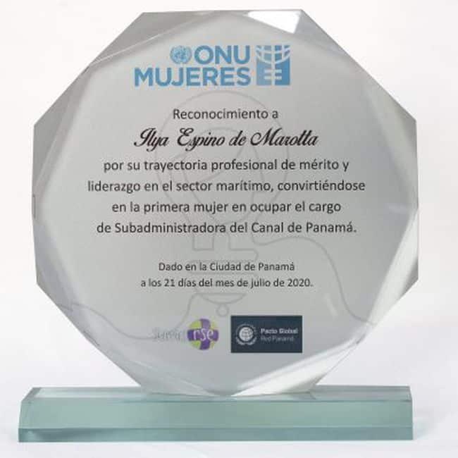 Onu-Mujeres-Ilya- Women Empowerment Panama Canal Award