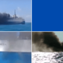 Raw Video Cargo Ship Catches Fire in Indonesia, Cause Unknown