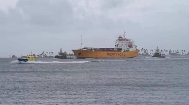 US Coast Guard Rescues Ship In Puerto Rico
