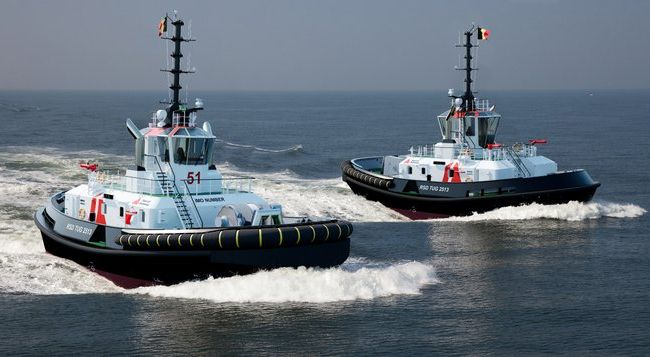 damen port of antwerp tug delivery