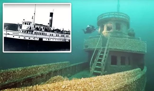 shipwreck of 90-year old cursed ship