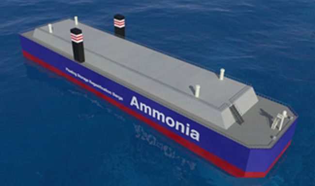 Ammonia Floating Storage and Regasification Barge (A-FSRB)