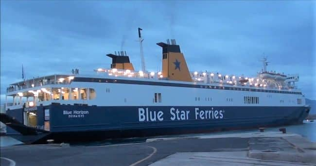 BLUE HORIZON BLUE STAR FERRIES PORT HERACLION