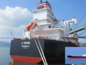 Coal Carrier J Mare for Shikoku Electric Power Enters Tachibana Port for First Time NYK