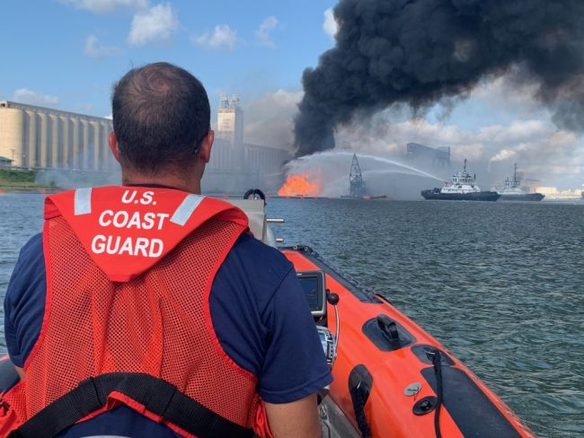 Coast Guard, Partner Agencies Continue to Respond to Dredging Vessel in Corpus Christi, Texas