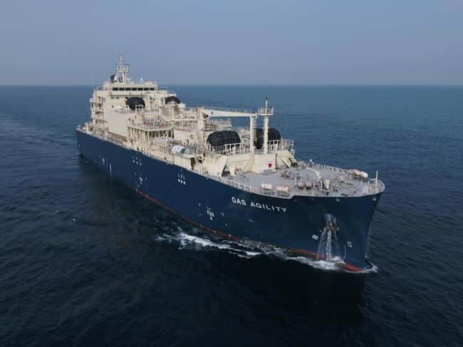 Gas Agility MOL world's largest LNG Bunkering Vessel