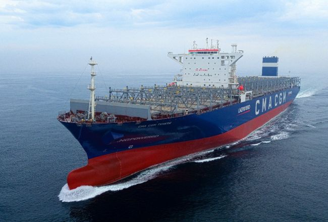 Hyundai Heavy Industries (HHI) Group became the world's first shipyard to construct an LNG-fueled very large container ship (VLCS), taking the lead in building eco-friendly vessels