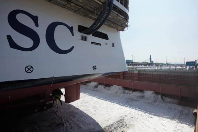 MSC Seashore Fincantieri float out