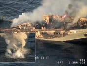 Superyacht-Catches-Fire-In-Sea-And-Sinks,-Passengers-Reported-Safe