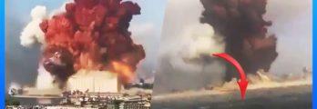 beirut lebanon explosion sound waves