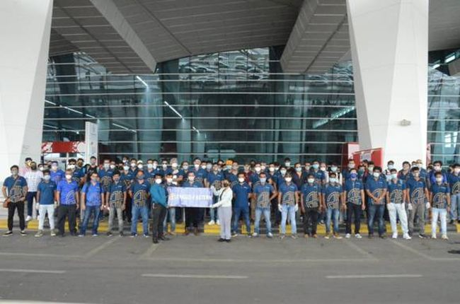 facilitated more than 1 lakh crew change in Indian ports and charted flights