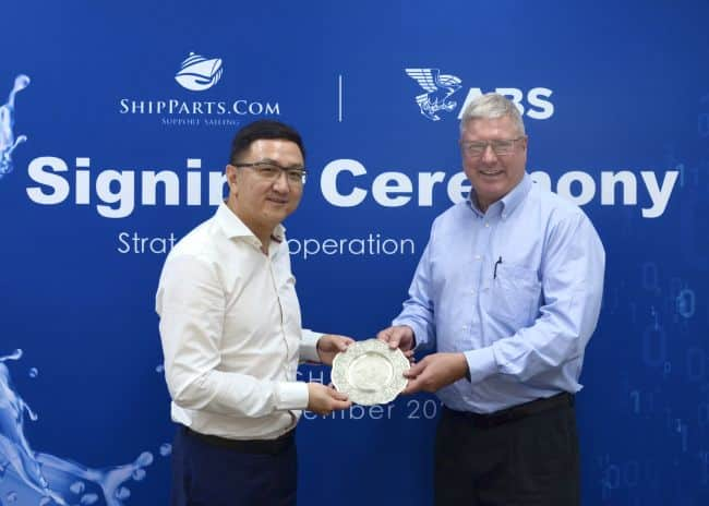 ABS enters Strategic partnership with ship parts