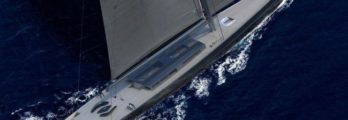 APEX-850 rendering by Solidwave sailing _ close up - Royal Huisman Unveiled World's Largest Sloop
