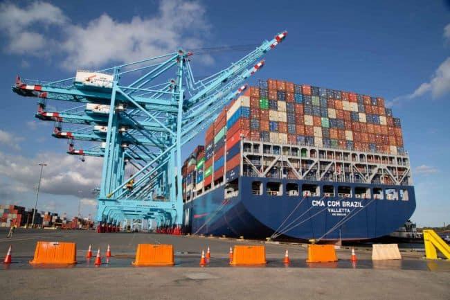 CMA CGM Brazil _ APM Terminals Port Elizabeth receives largest ever ship to call the U.S. East Coast