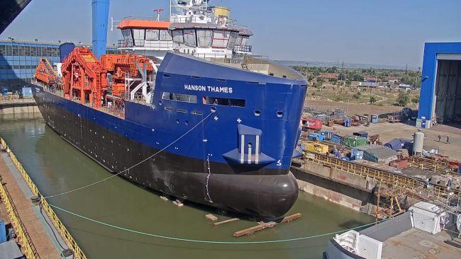 Damen shipyards galati hanson dredger launch