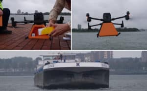 Drone-Delivery-on-a-moving-ship-in-rotterdam